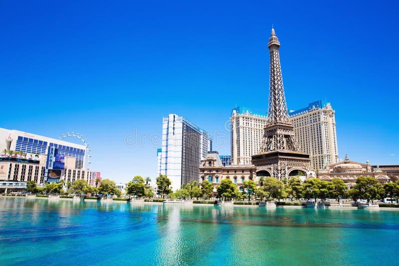 Hotel Parijs in Las Vegas stock foto