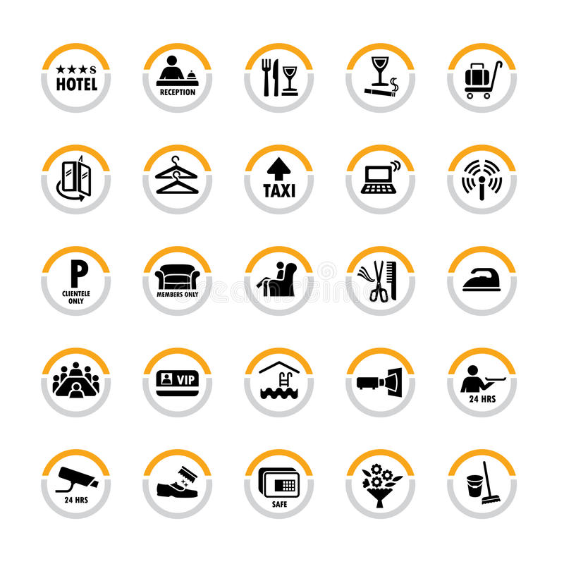 Free Hotel Pictograms Stock Photography - 19224612