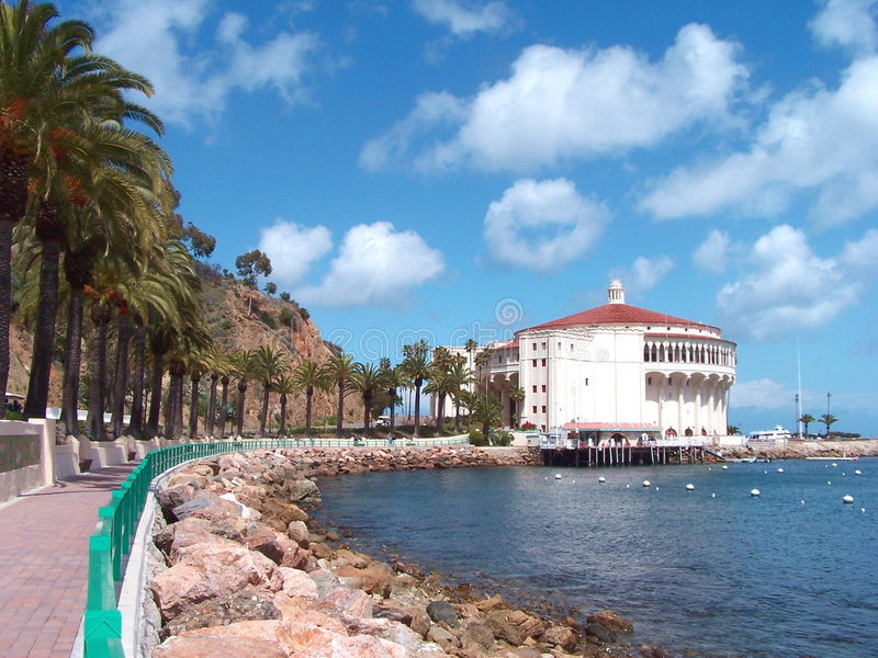 Hotel on picturesque coast royalty free stock images
