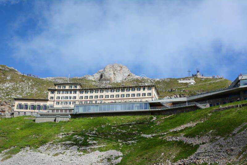 Hotel Pilatus-Kulm stockbild