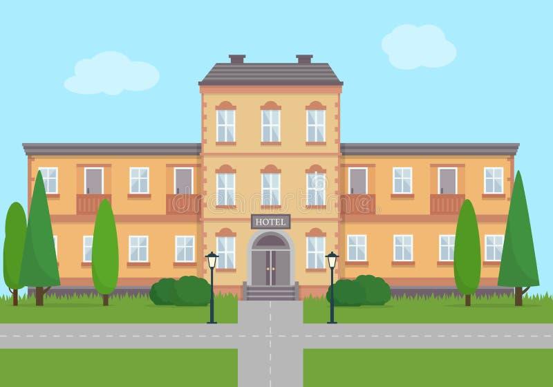 Hotel plano ilustración del vector
