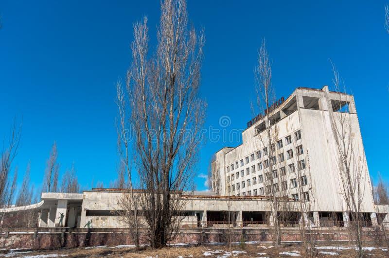 Hotel Polesie en chernobyl imágenes de archivo libres de regalías