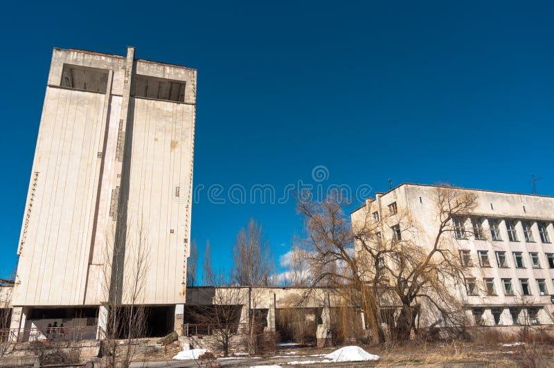 Hotel Polesie en el área de chernobyl foto de archivo libre de regalías