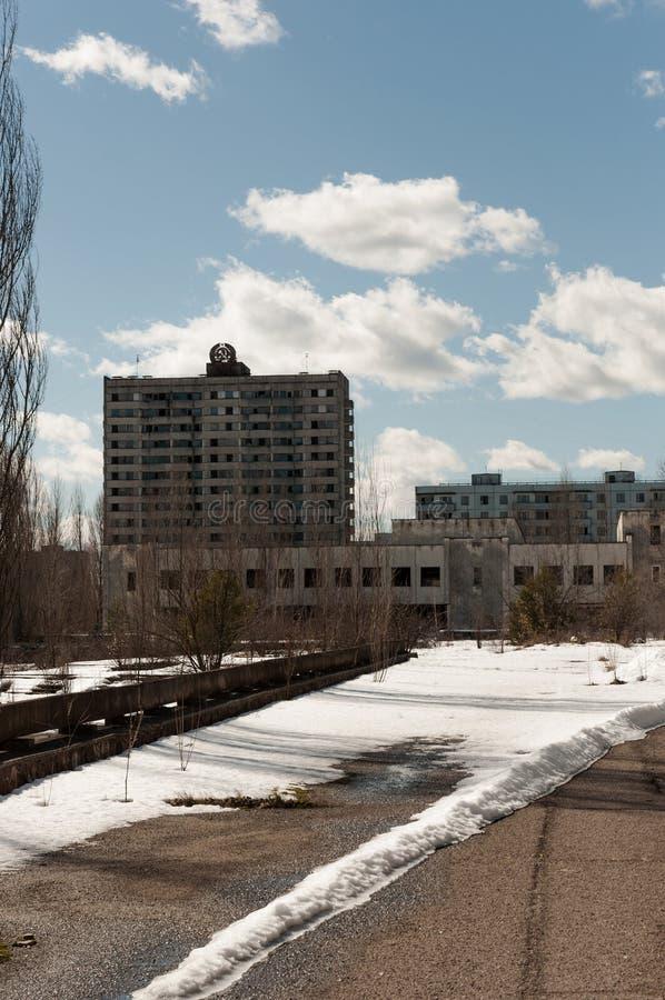 Hotel Polesie en el área de chernobyl imagen de archivo libre de regalías