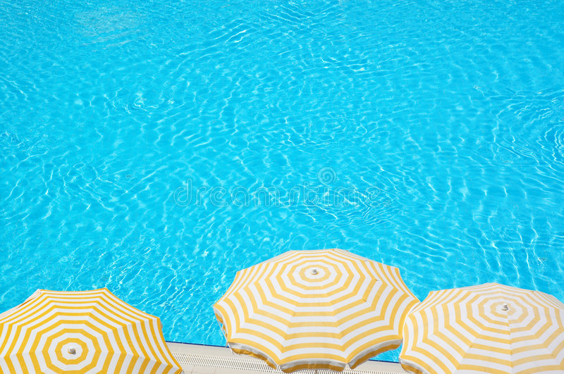 Hotel pool. On a sunny day royalty free stock photos