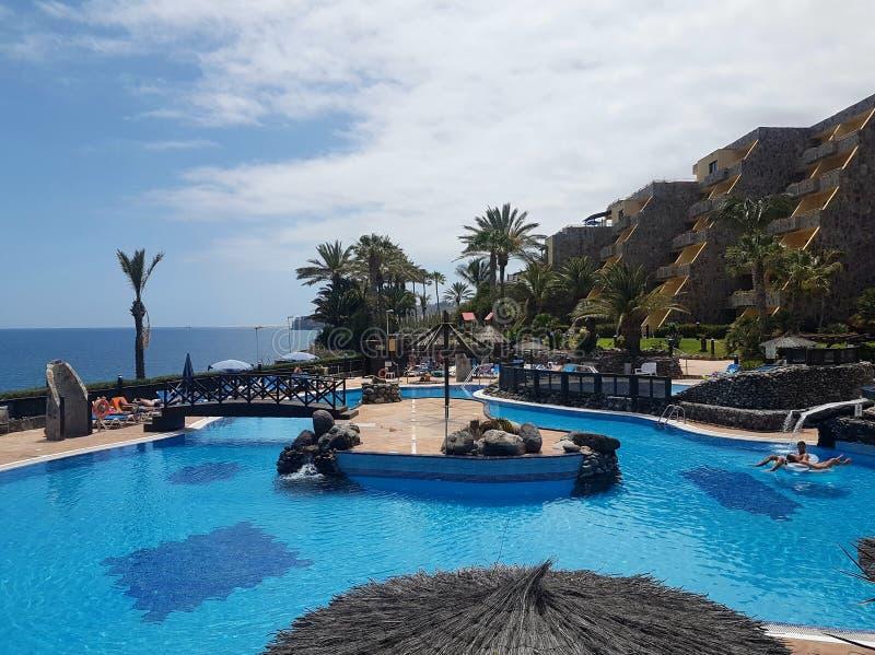 Hotel-Pool stockfoto
