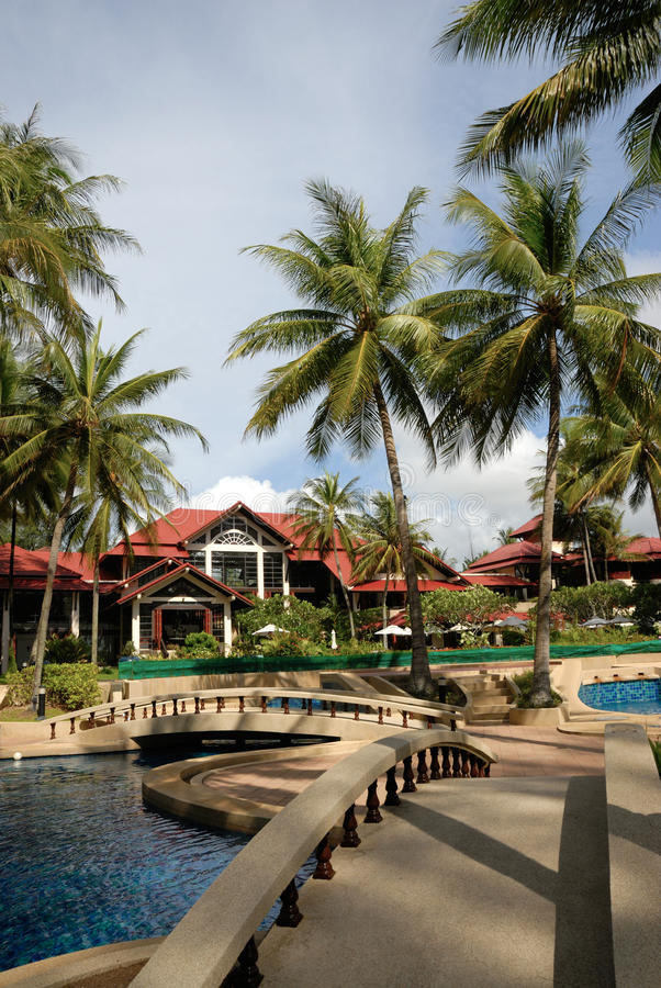 Download Hotel Poolside Thai Architecture Stock Image - Image: 21992079