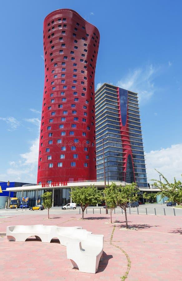 Hotel Porta Fira, Barcelona royalty free stock photos