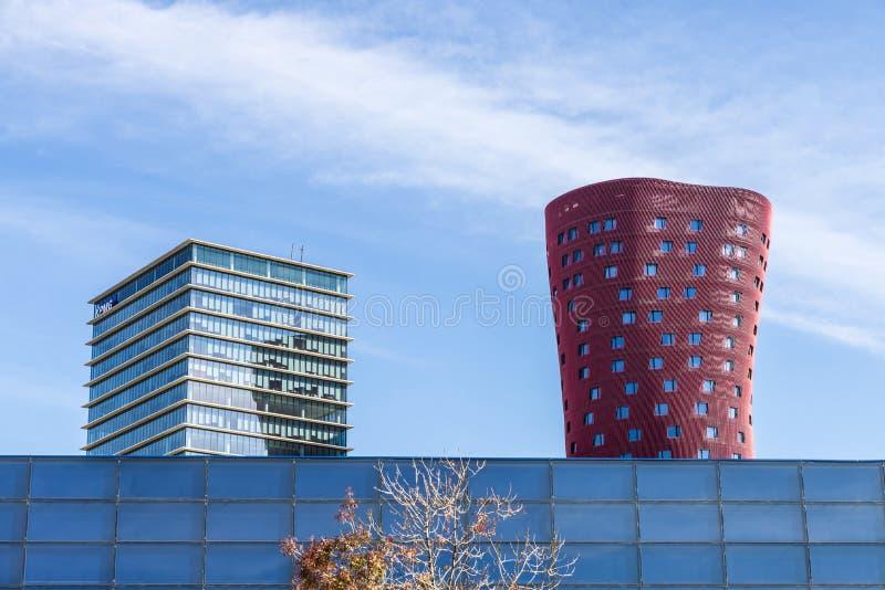 Hotel Porta Fira, Barcelona stock images