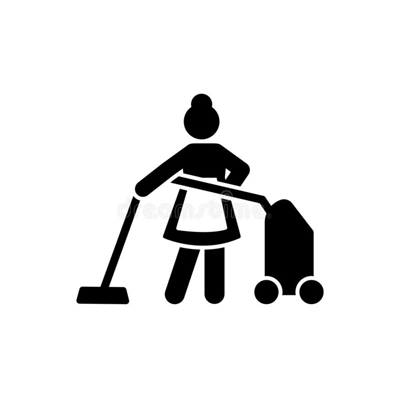 Hotel, praca, hotel, czyści ikona Element hotelowa piktogram ikona Premii ilo?ci graficznego projekta ikona podpisz symboli ilustracja wektor