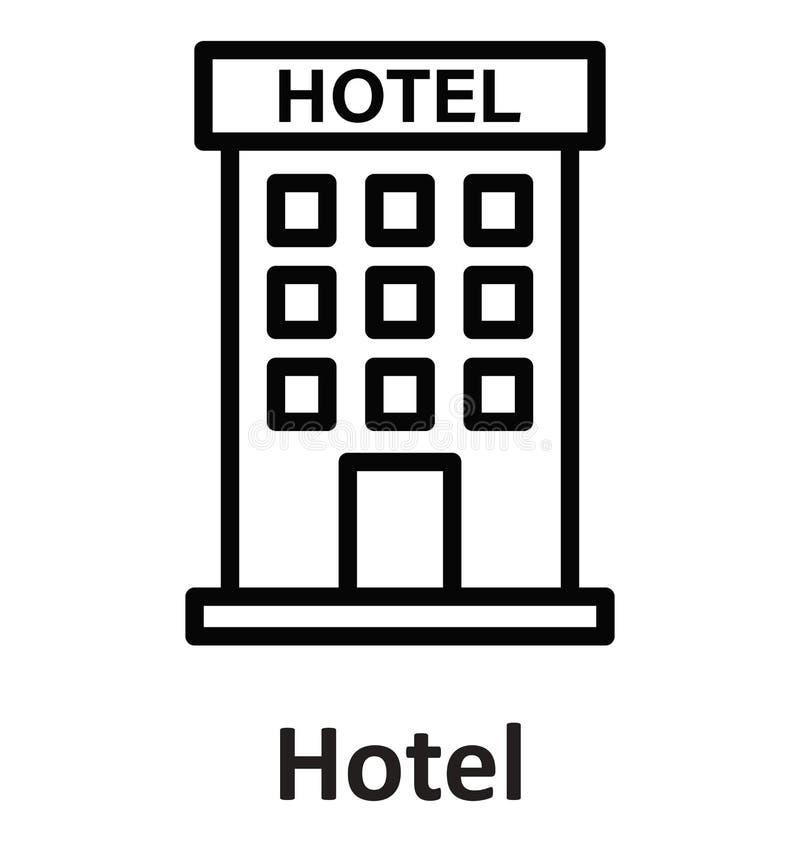 Hotel que construye el icono aislado del vector que puede modificarse o corregir fácilmente ilustración del vector