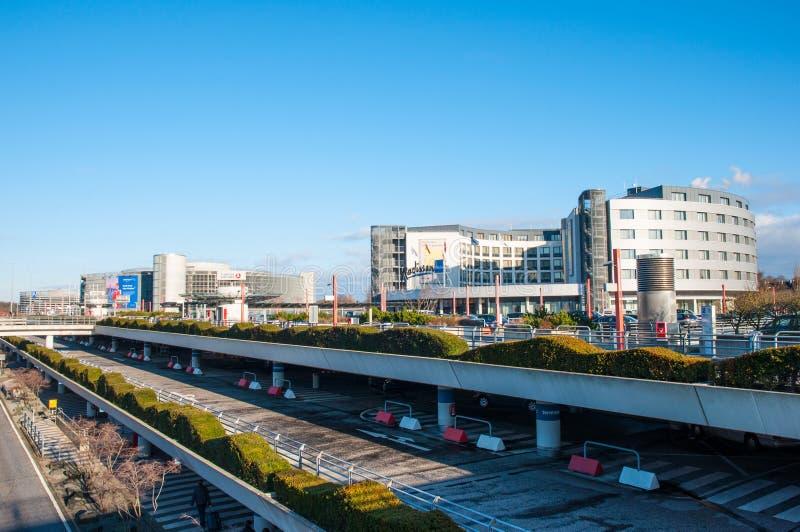 Hotel Radison Blu And Parking Garage At Hamburg Airport Editorial ...