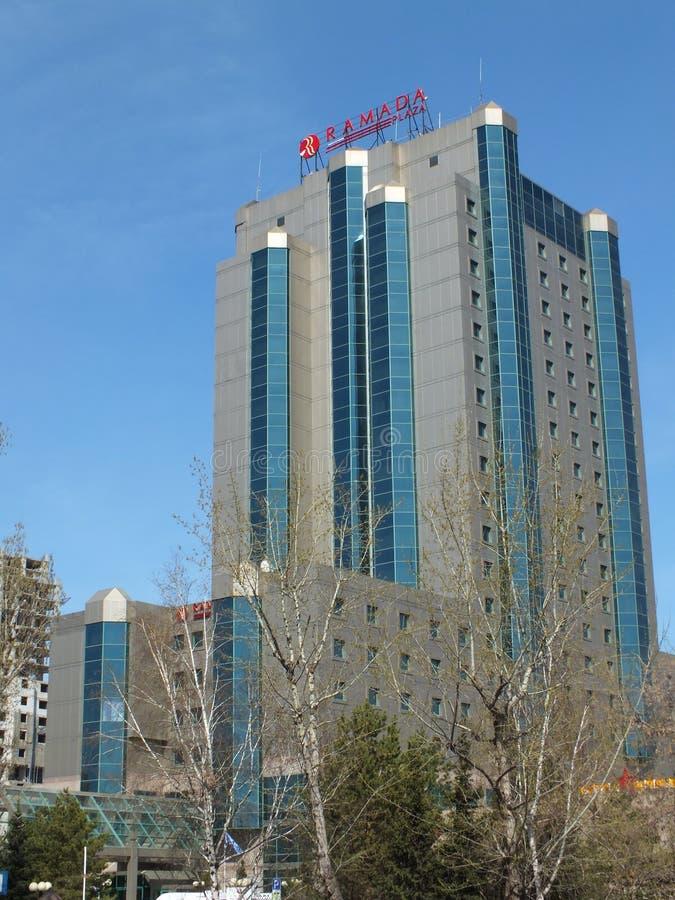 Hotel RAMADA in Astana/in Kasachstan stockbilder