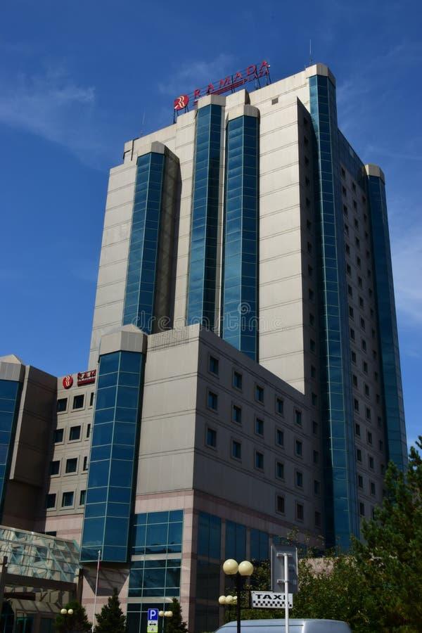 Hotel RAMADA in Astana/in Kasachstan lizenzfreies stockfoto