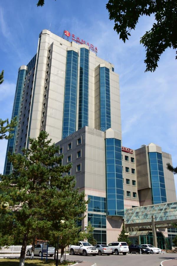 Hotel RAMADA in Astana/in Kasachstan stockbild