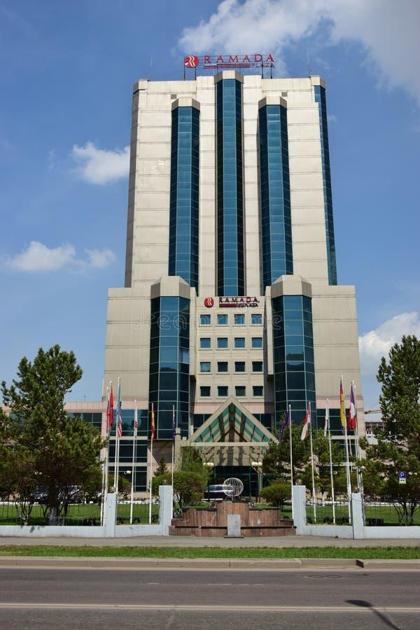 Hotel RAMADA in Astana/in Kasachstan lizenzfreies stockbild
