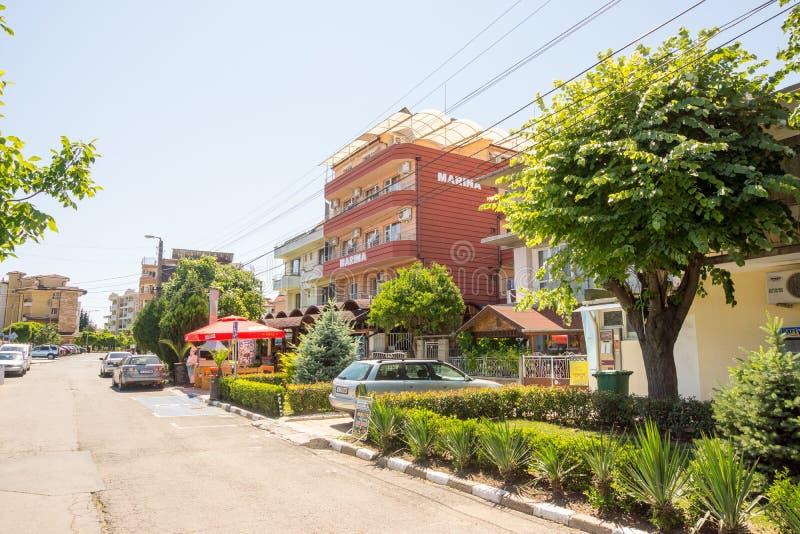 Hotel in Ravda, Bulgarije royalty-vrije stock fotografie