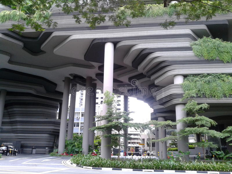 Hotel real Singapur del parque imágenes de archivo libres de regalías
