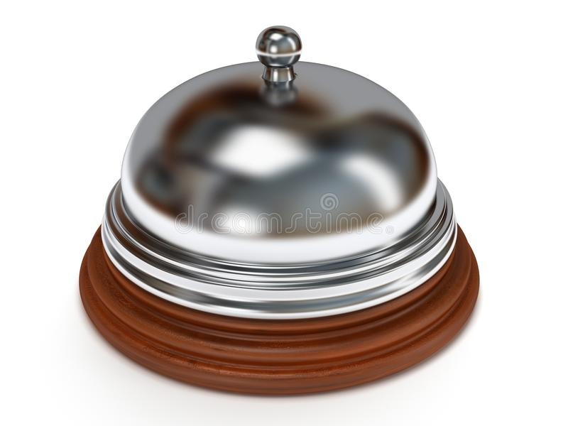 Hotel reception bell. 3d render. royalty free illustration