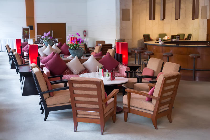 Hotel reception, lobby stock photography