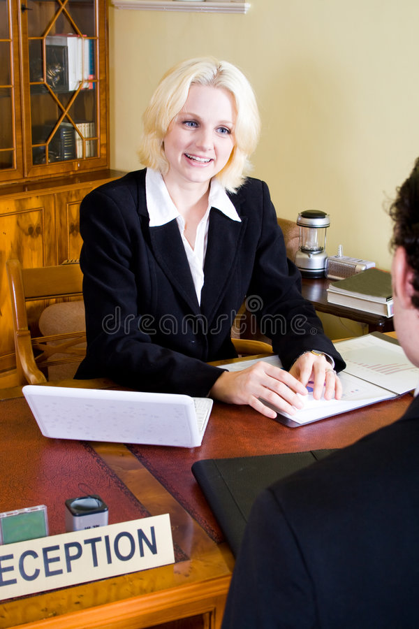 Hotel receptionist stock photo. Image of happy, hair, male ...