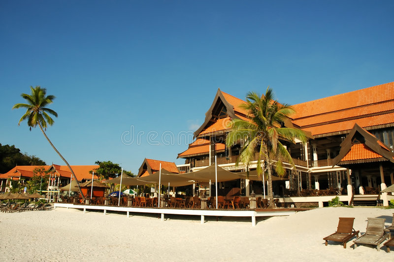 Hotel at Redang royalty free stock photo