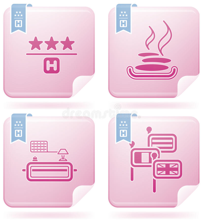 Download Hotel Related Icons stock vector. Illustration of white - 14406551