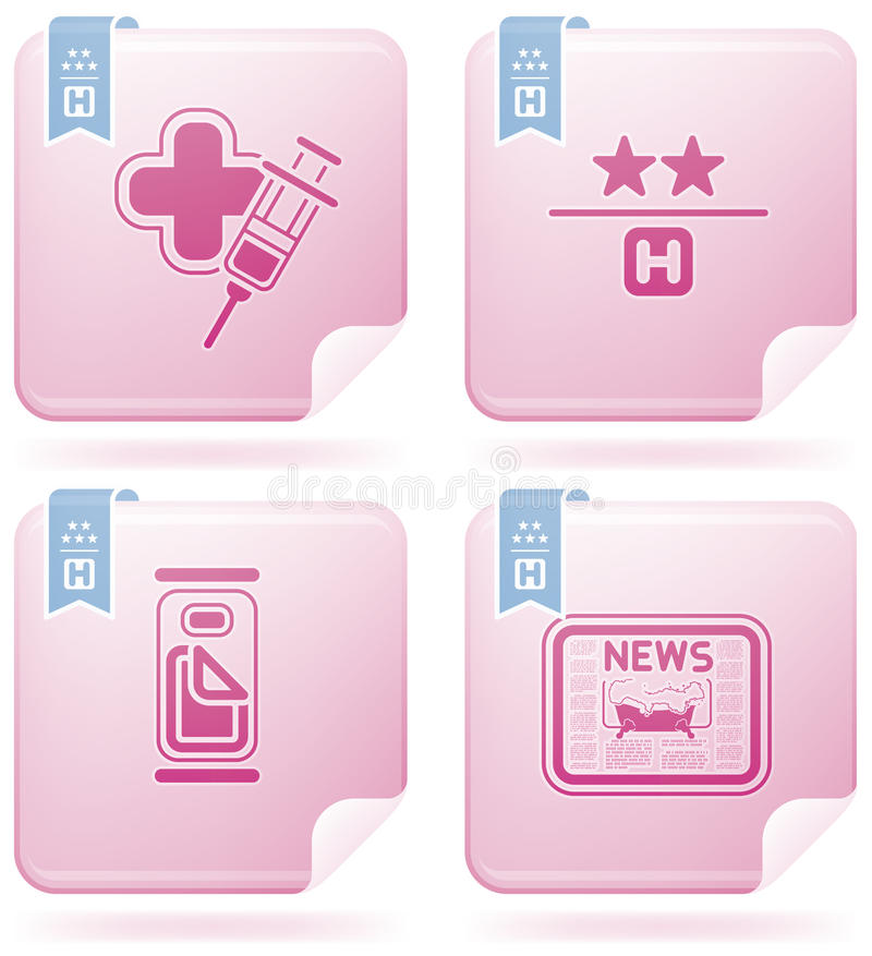 Download Hotel Related Icons stock photo. Image of medic, single - 14406564