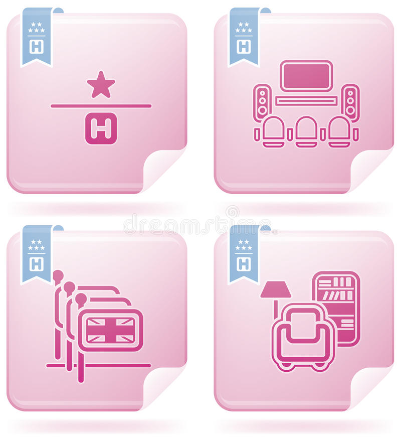Free Hotel Related Icons Stock Images - 14406934