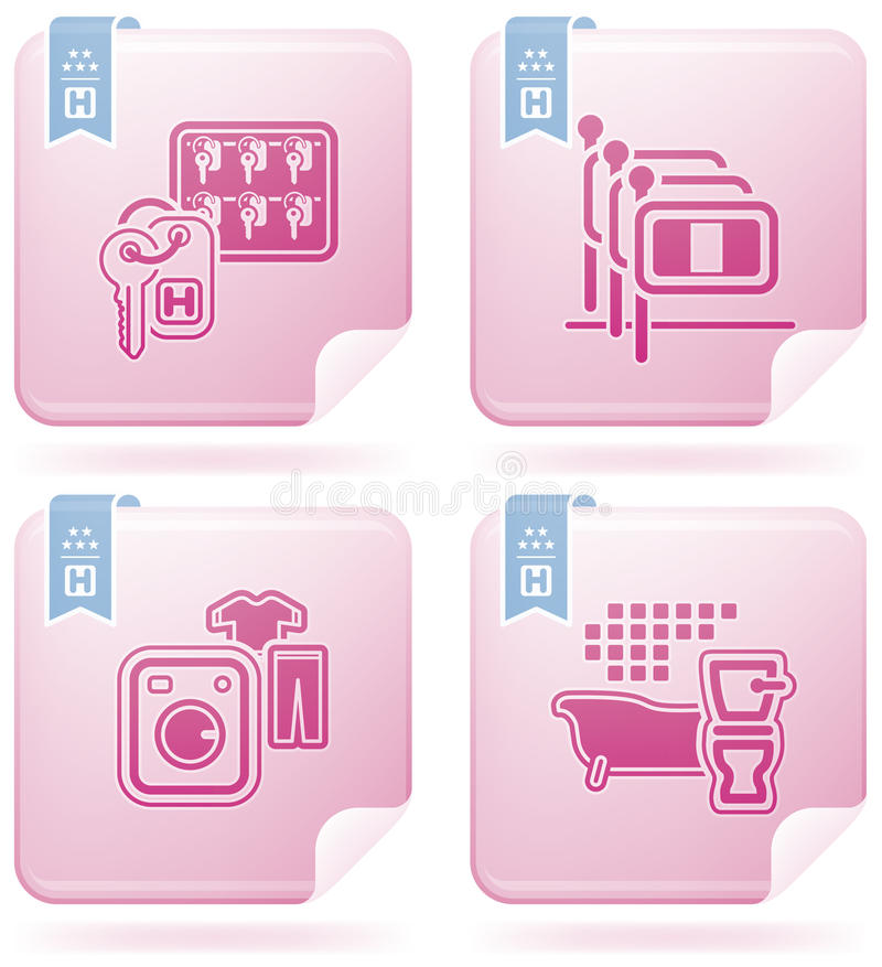 Download Hotel Related Icons stock vector. Image of flag, bathroom - 14406939
