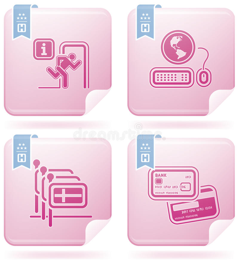 Download Hotel Related Icons Stock Photos - Image: 14407403