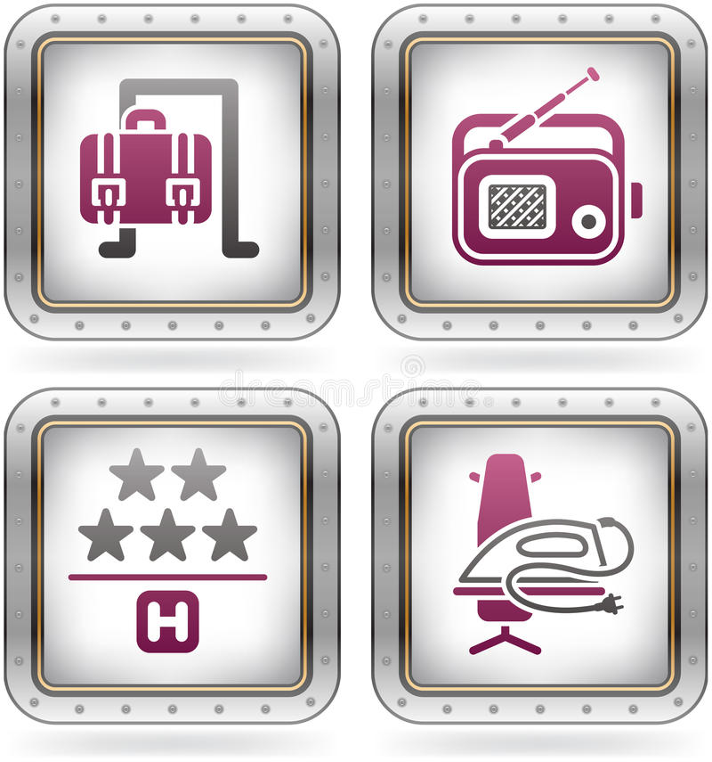 Download Hotel Related Icons stock vector. Image of white, outlines - 21461988