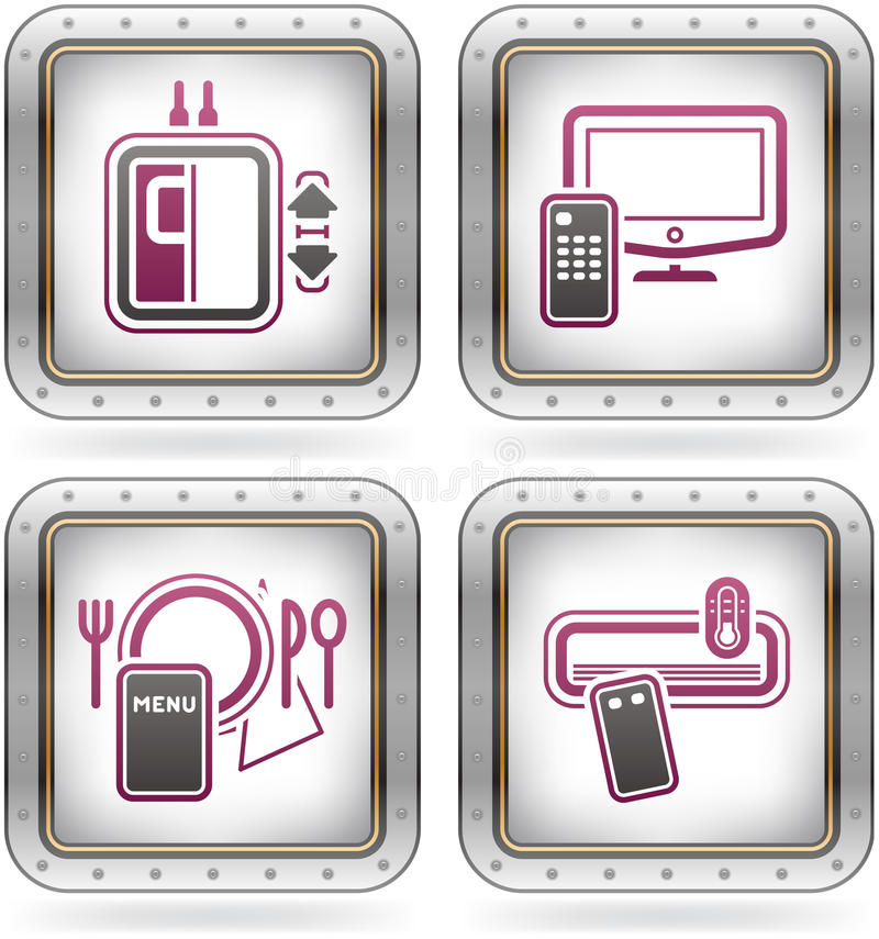 Download Hotel Related Icons Royalty Free Stock Photography - Image: 21462567