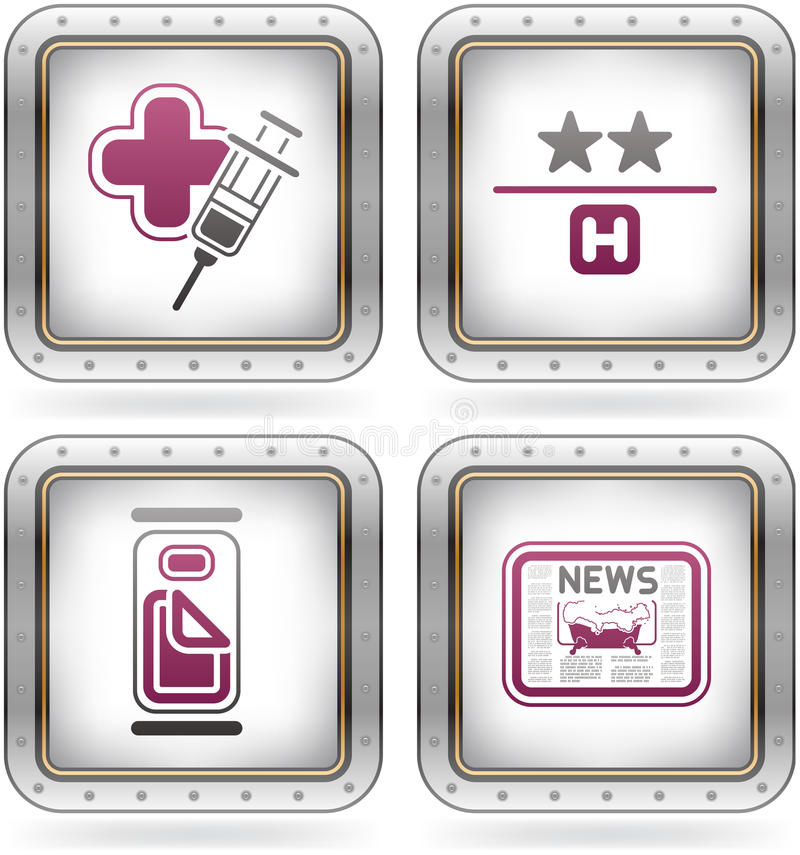 Download Hotel Related Icons Royalty Free Stock Photography - Image: 21462597