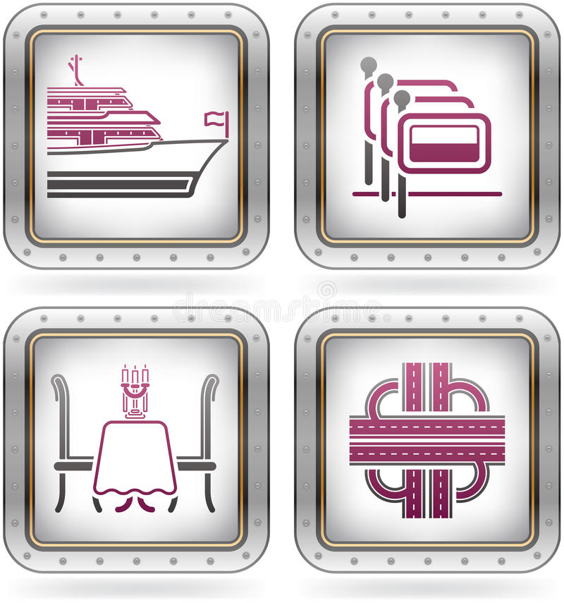 Download Hotel Related Icons stock vector. Illustration of background - 21467346