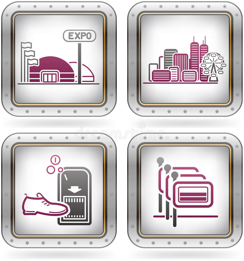 Hotel Related Icons royalty free illustration