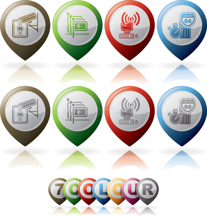 Download Hotel Related Icons stock vector. Image of kiosk, pink - 27714619