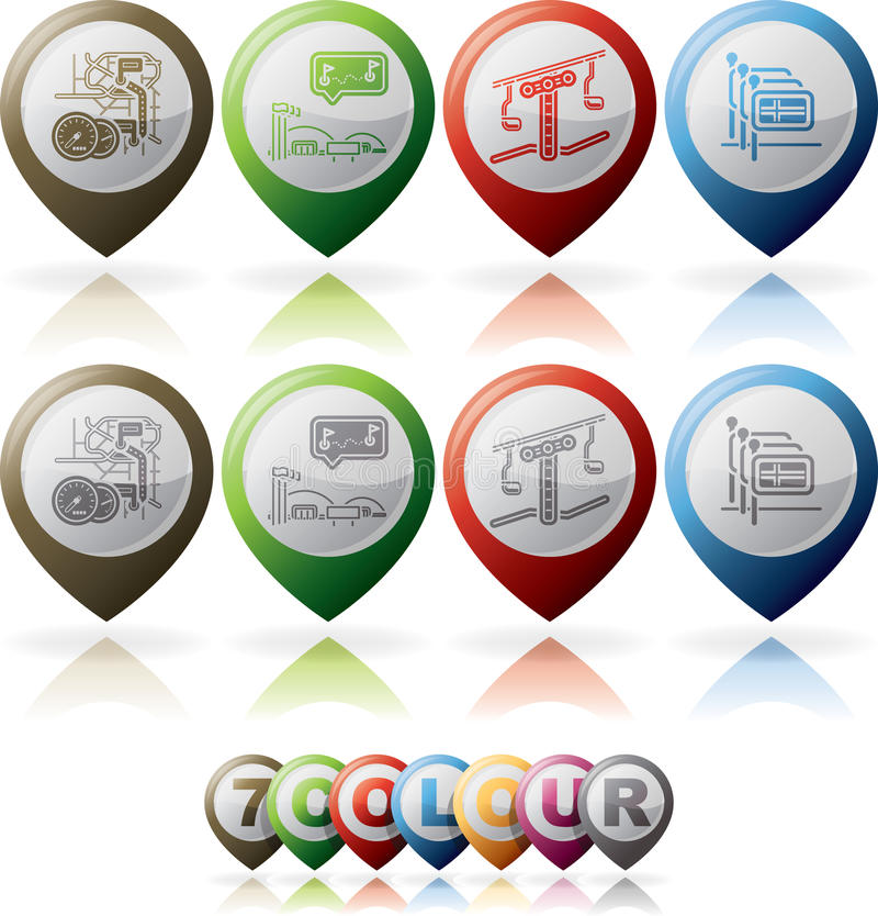 Download Hotel Related Icons stock vector. Image of blue, expo - 27714623