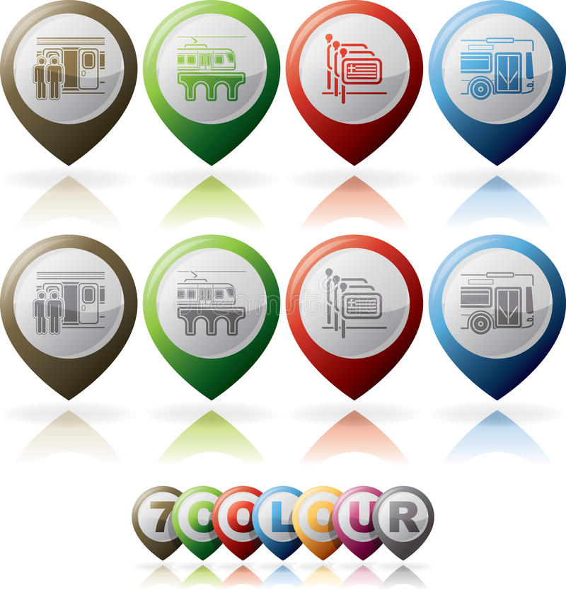 Download Hotel Related Icons stock vector. Image of greek, railway - 27714640