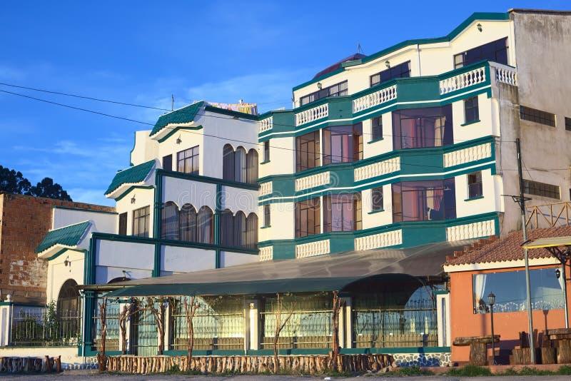 Hotel Residencial Brisas del Titicaca em Copacabana, Bolívia imagens de stock royalty free