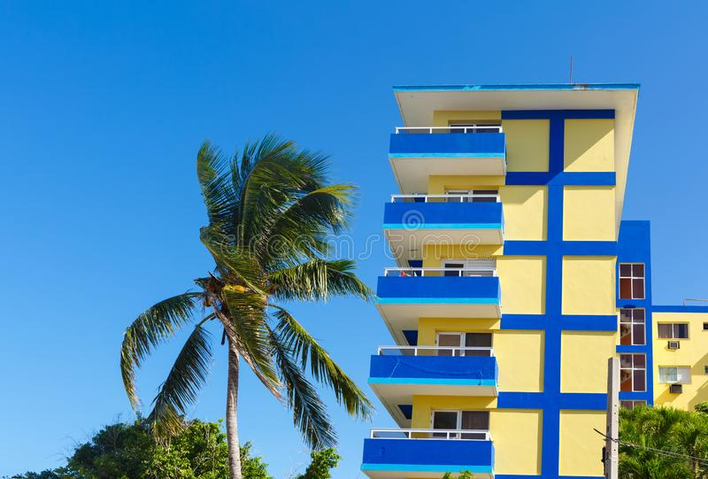 Hotel in a resort area in Cuba stock photography