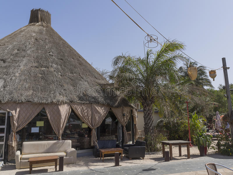 Hotel resort in Gambia royalty free stock image