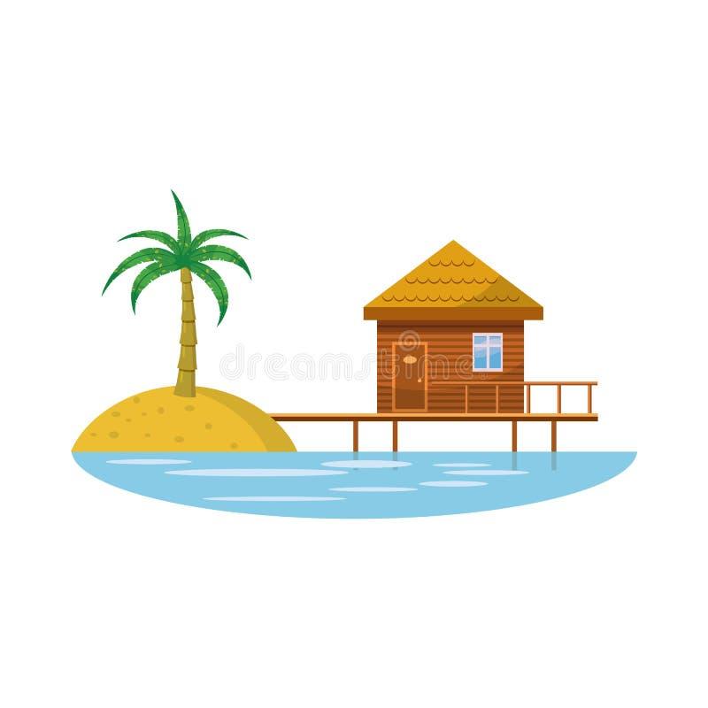 Hotel Resort Icon In Cartoon Style Stock Vector