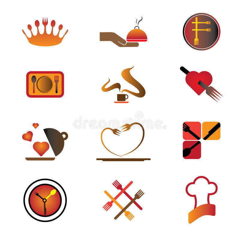 Download Hotel, Resort And Restaurant Industry Logo Icons Stock Illustration - Image: 25359345