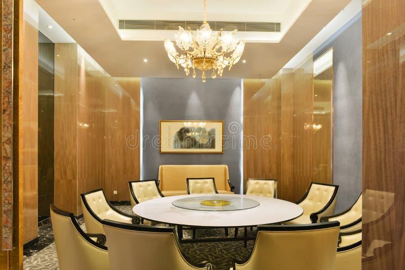 Contemporary hotel restaurant dining room. Hotel restaurant dining room royalty free stock images