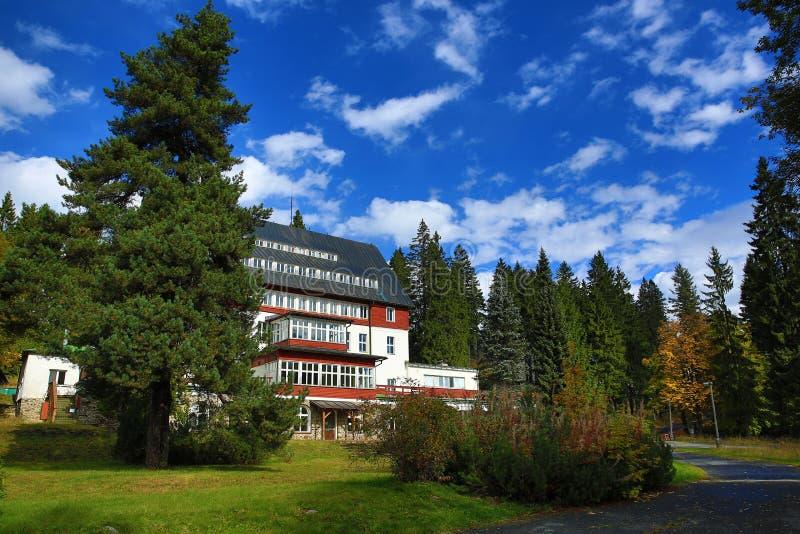 Download Hotel Rixi, Zelezna Ruda, Boemerwald, Sumava Czech Republic Stock Photo - Image: 34468766