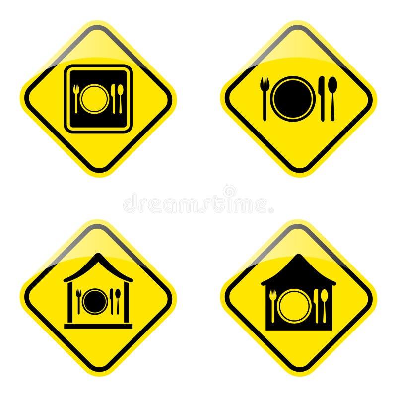 Download Hotel road sign stock vector. Image of breakfast, emblem - 27160948