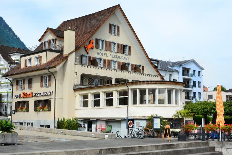 Hotel Roessli Beckenried stock foto's