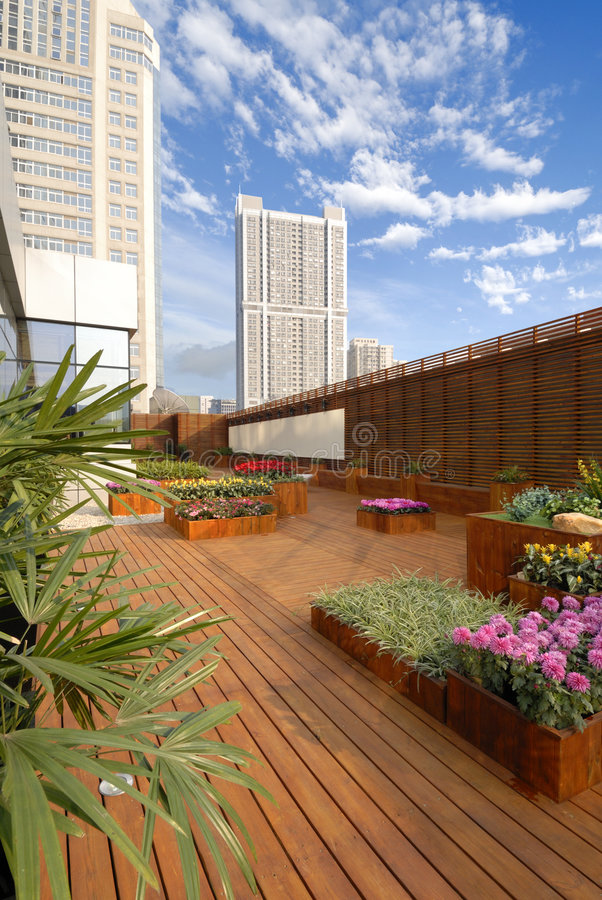Download Hotel Roof Garden Stock Image Of Blue Virescence