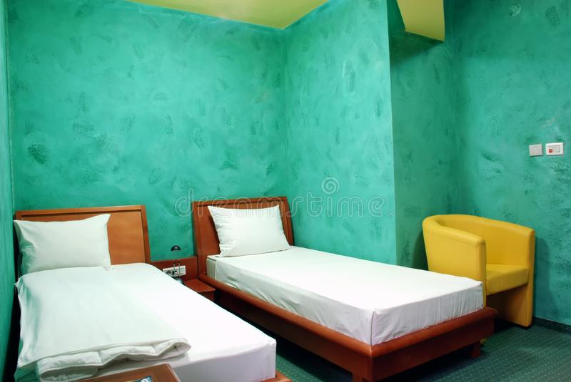 Hotel room stock image